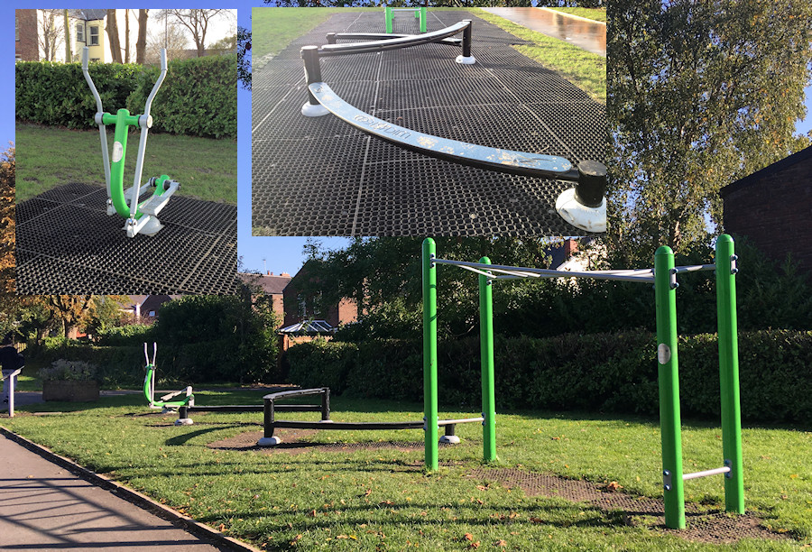 Gym equipment in Romiley Park