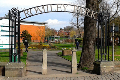 Romiley Park entrance arch